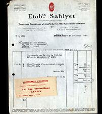 """PANTIN & DREUX (93 / 28) CHAUFFAGE DOMESTIQUE & INDUSTRIEL """"SABLYET"""" en 1930"""