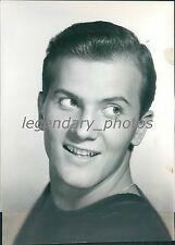 1957 Close-Up Shot of Singer Pat Boone Original News Service Photo