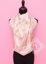"""NEW HERMES 90 cm 36"""" THE HORSAWARDS PINK BROWN SILK TWILL SCARF SHAWL CARRE sb7"""