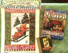 Mary Engelbreit Merrily Merrily mini book & iron-on transfer, and Winter book, a