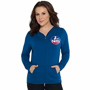 Touch by Alyssa Milano NBA New Jersey Nets Tackle Hoodie, Large, Royal