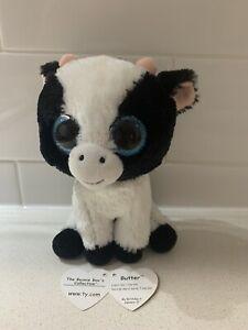 """Butter Cow 6"""" 15cm Ty Beanie Boos"""