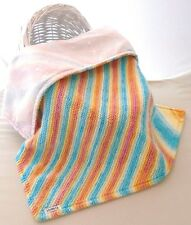Tiny Baby Girls Blanket Hand Knitted Pink Multi Coloured Crib Moses Basket Car