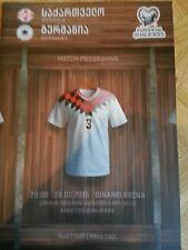 Off. Programm Länderspiel Georgien - Deutschland Germany DFB Nationalmannschaft