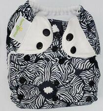 BUMGENIUS Pocket Style Cloth Diaper I'M A GENIUS Black Snaps Boy Flower