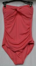 Anne Cole Women's Twist Front Shirred Strawberry One Piece Swimsuit Size 8 NWT