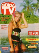 rivista NUOVA GUIDA TV ANNO 1987 NUMERO 31 MARIA GIOVANNA ELMI