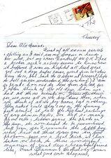ART LYSTRA (I think) Australian entertainer Letter & envelope Bert Newton et al.