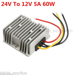 Voltage STEP-DOWN BUCK Power DC Converter Step Down Regulator 24V To 12V 5A 60W