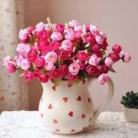 Artificial Rose Silk Flowers 18 Flower Head Camellia Peony Bouquet House Decor