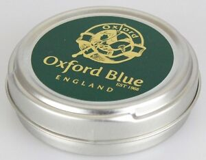 Oxford Blue Wax For Rewaxing Jackets Trousers and all Cotton In A Tin 35 grams