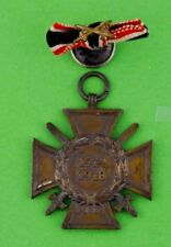 WWI GERMANY HINDENBURG WAR CROSS 1914-1918 MEDAL & RIBBON BOUTONNIERE