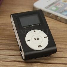 Black Mini MP3 Music Player 32GB Micro SD TF Card USB Clip Digital LCD Screen