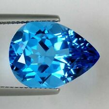 8.80 ct  TOP LUSTER best SWISS COLOR BLUE   NATURAL TOPAZ - Pear  -  2225