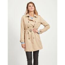 La Redoute VILA Long Belted Trench Coat Size 12 Beige Mac RRP £48 New Season