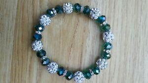 Stunning green glass  bracelet  - costume jewellery