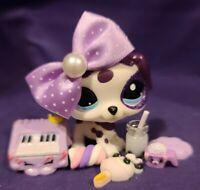 Hasbro Littlest Pet Shop 1997 1998 Orange Kitten Cat and Owl Bird Pet Pairs LPS