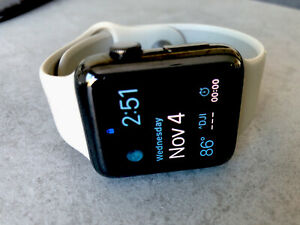 Apple Watch Series 2 - 42mm, WiFi - Stainless Steel Black with Grey Sport Band