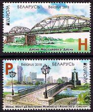 2018. Belarus. EUROPA. Bridges. Set of 2. MNH