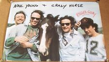 NEIL YOUNG & CRAZY HORSE U.S. REC COM PROMO POSTER 'RAGGED GLORY' ALBUM IN 1990