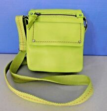 CLARKS LIGHT GREEN LEATHER SHOULDER, CROSS BODY BAG, HANDBAG, PURSE