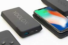YOOLOX 16K mAh Qi Wireless Portable Power Bank Fast Charger with Suction Pads