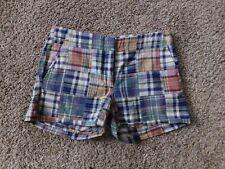 JCREW CREWCUTS Madras Plaid Shorts Girls 16 *BNWT*