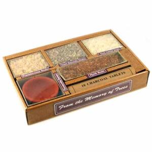 Resin Incense Boxed Set by Auroshikha - Four Resins w Terracotta Bowl & Charcoal