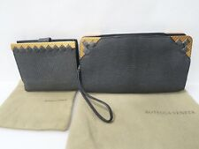 New Limited Edition Bottega Veneta Lizard Skin Clutch / Wristlet & Wallet