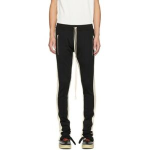 Fear Of God FOG Fifth Collection Track Pants Black Cream Stripe Men's Size XL