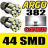 2x CANBUS ERROR FREE 44 SMD LED 382 XENON WHITE DRL BULBS P21W BA15S WARNING