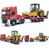 1:50 Alloy Diecast Road Roller + Trailer Model Engineering Vehicle Toys Gifts