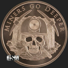 1 oz Copper Round - Miners Go Deeper