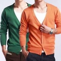 New Men Cashmere Sweaters Knitted Leisure Cardigan Short Sweater Tops Coat Chic