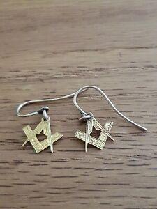 Vintage Masonic Earrings