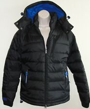 New Womens Superdry Scuba Dive Edition Ski Snow Jacket Sz M Black Blue Jacket