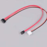 7+6 Pin slimline sata cable for slim latop SATA DVD+/-RW Drive power cord to  HI