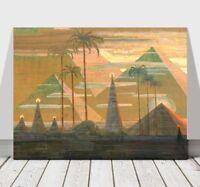"MIKALOJUS CIURLIONIS - Andante - Pyramids - CANVAS PRINT POSTER -12x8"""