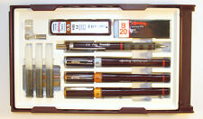 Rotring Rapidograph College 3 Pens .20 .40 .60, Pencil 3 Cartridges S0699540