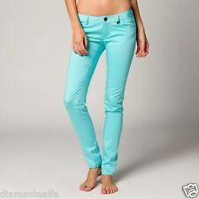$54 Fox Racing Women's Sharp Turn Skinny Fit Chino Pants – Ice Blue sz 7