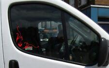 RENAULT Fenêtre Coin autocollant decals Vent Déflecteurs Ajouter sur le trafic, master, etc.