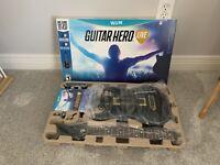 Guitar Hero Live Bundle Wireless Wii U Nintendo OPEN BOX READ