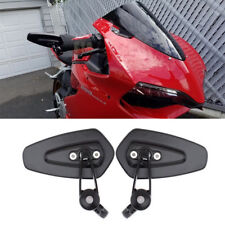 """7/8"""" Motorcycle Handle Bar End Side Mirrors Black For For Ducati Honda Superbike"""