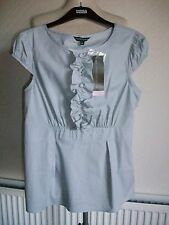 Ltd Collection Grey Cap Sleeve Blouse + Stretch, Zip, Size 14, M&S, BNWT