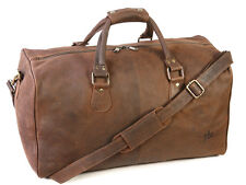 Primehide Oiled Distressed Hunters Leather Holdall Weekend Gym Bag - 825 Brown