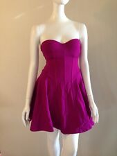 Victoria's Secret 32B Strapless Ponte Push-Up Bra-Top Dress Fuchsia Rhumba $148