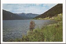 West Yellowstone, MT  Hebgen Lake 1960s Chrome Post Card
