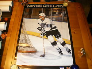 WAYNE GRETZKY SIGNED 22X34 POSTER Edmonton Oilers Los Angeles Kings RARE¡¡¡¡¡¡