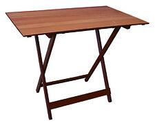 tavolo pieghevole noce cm. 80x60x75/77/79h color bianco cod. 15641 giardino