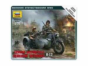 Zvezda #6142 - 1:72  German Motorcycle R-12